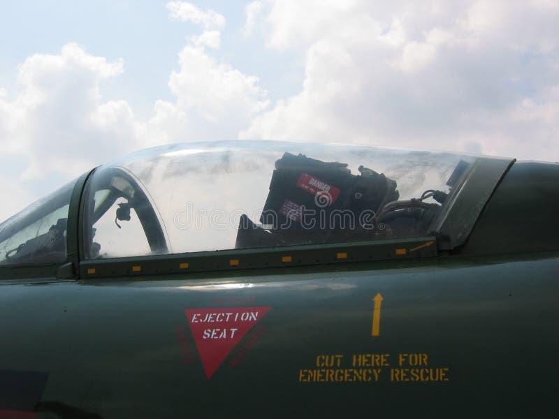 nivå för framdel för flygplancockpitkämpe royaltyfri bild