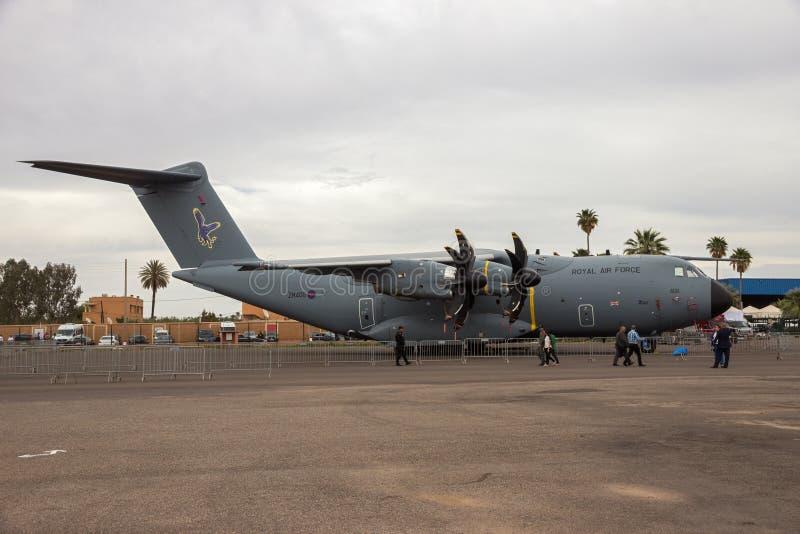 Nivå för last för Oyal flygvapenflygbuss A400M militär royaltyfri foto