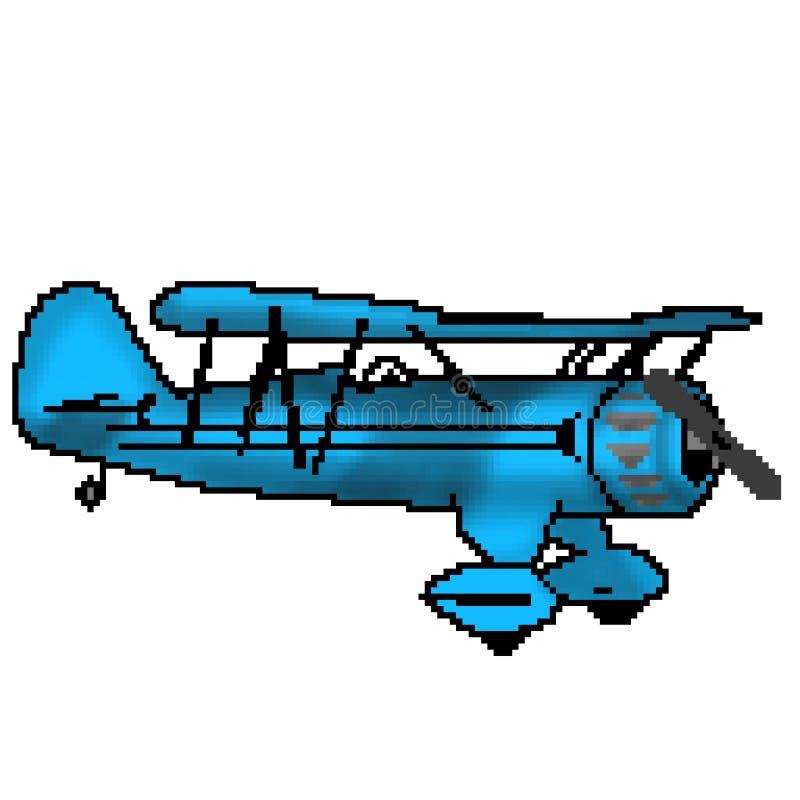Nivå för propeller för bit för PIXEL 8 utdragen antik blå vektor illustrationer