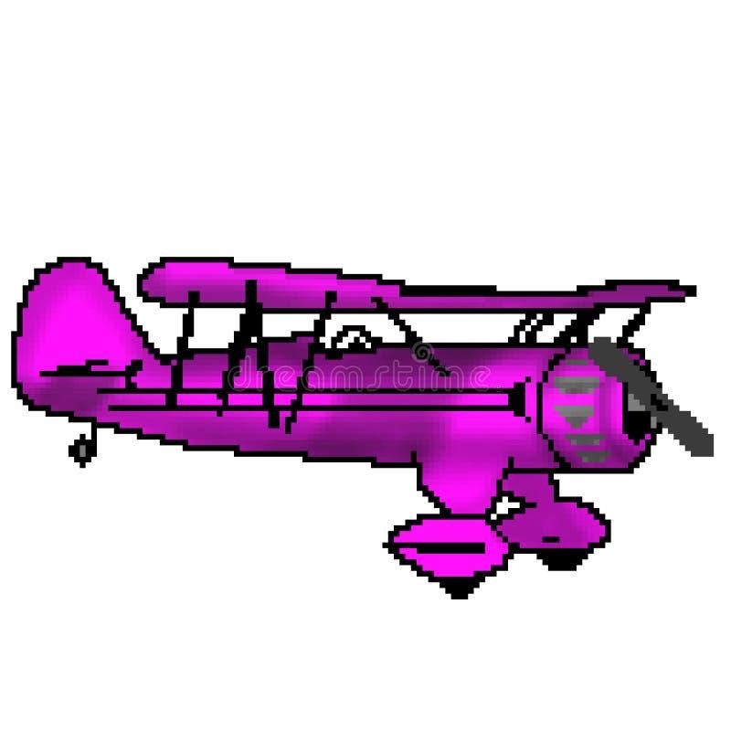 Nivå för utdragen rosa camo för bit för PIXEL 8 antik stock illustrationer