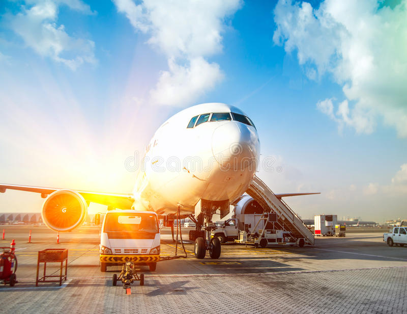 Nivå och flygplatsen arkivfoto