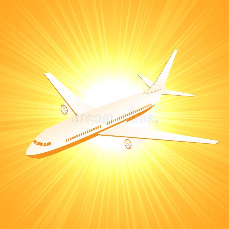 Nivå på solbakgrund stock illustrationer