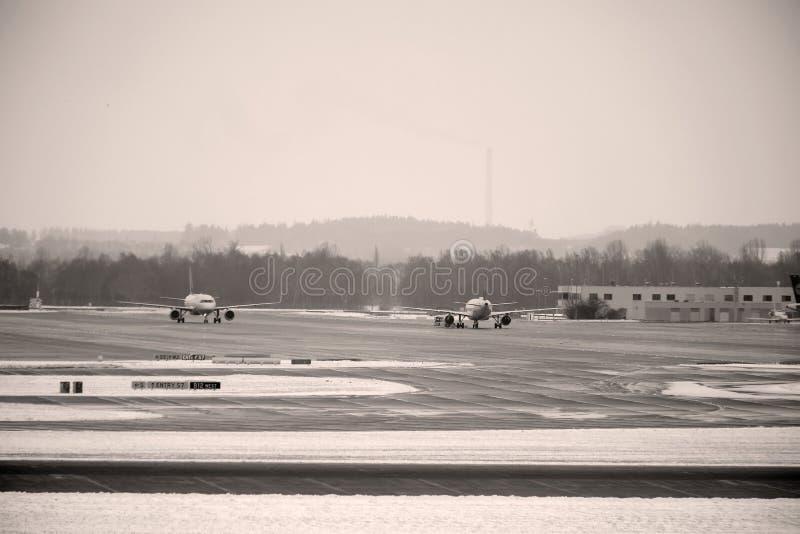 Nivåer i den Munich flygplatsen, vår fotografering för bildbyråer