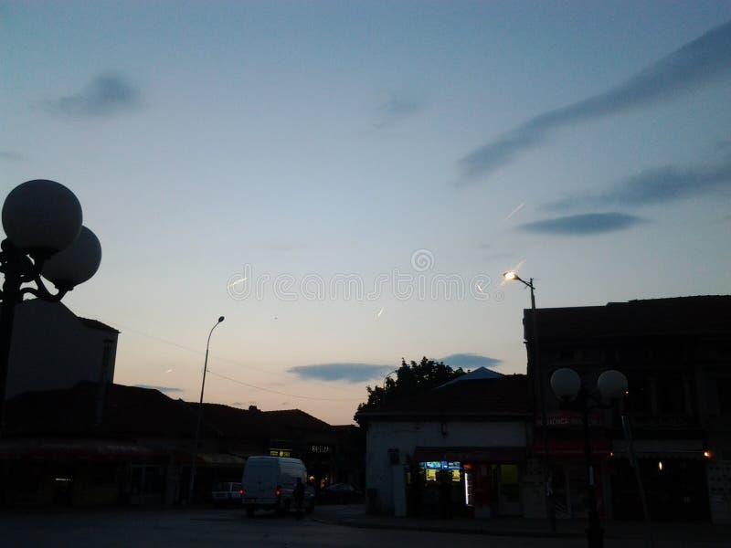 Nivåer på himmel arkivfoto