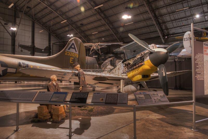 Nivåer på U.S.A.F.-museet, Dayton, Ohio arkivfoto