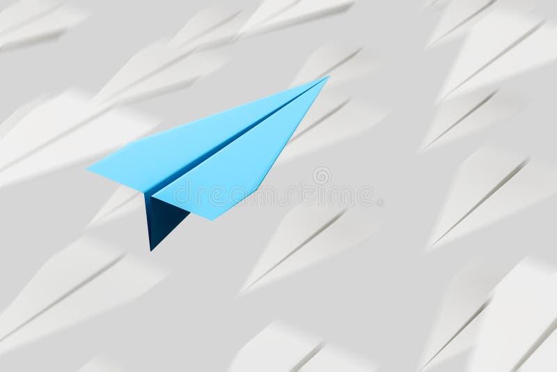 Nivåflyg för blått papper diagonalt royaltyfri illustrationer