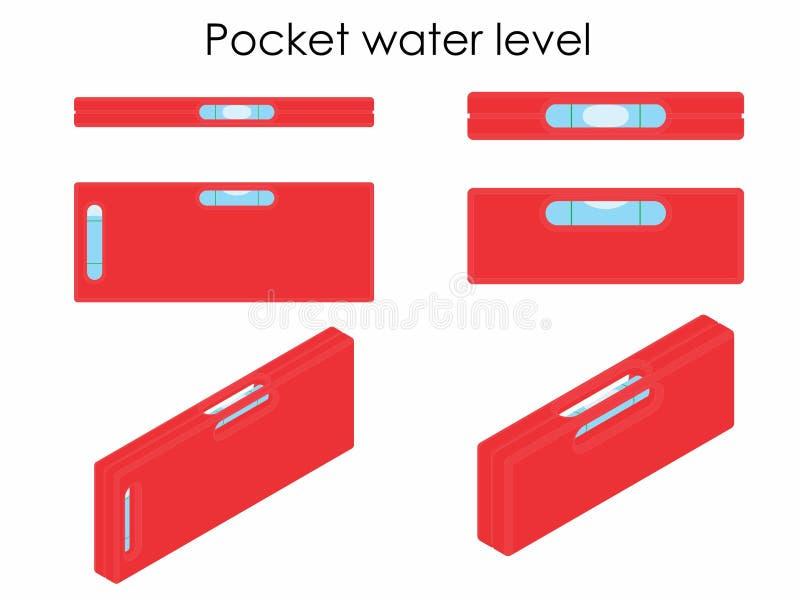 Niveau d'eau de poche illustration libre de droits