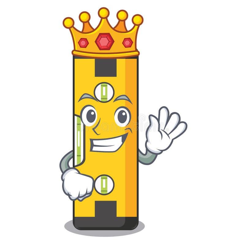 Niveau d'esprit de roi dans un sac de bande dessinée illustration libre de droits