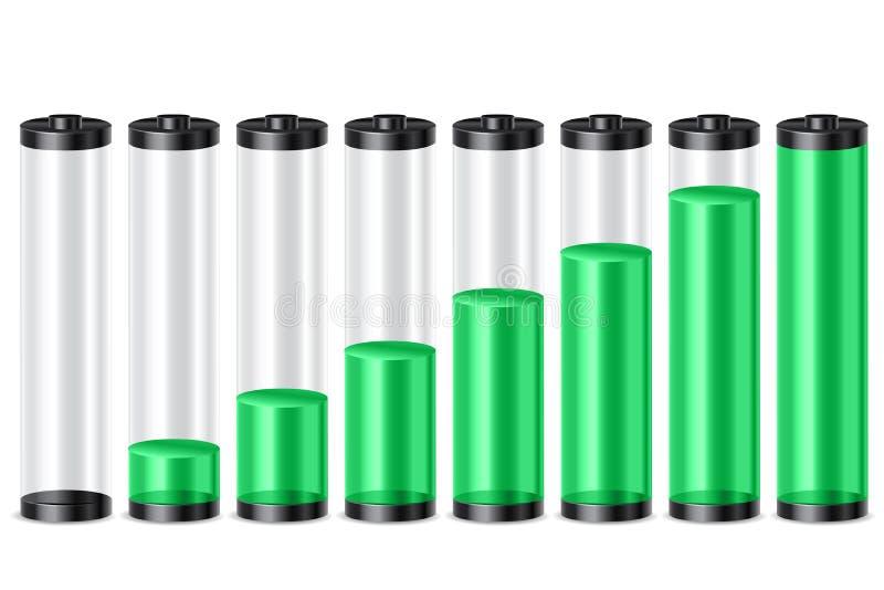Niveau de batterie illustration de vecteur