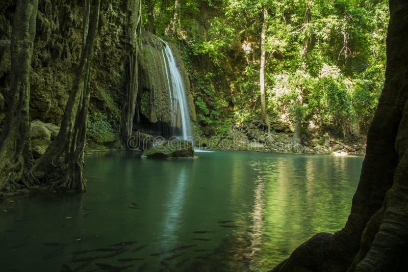 Niveau 3 de cascade d'Erawan images stock