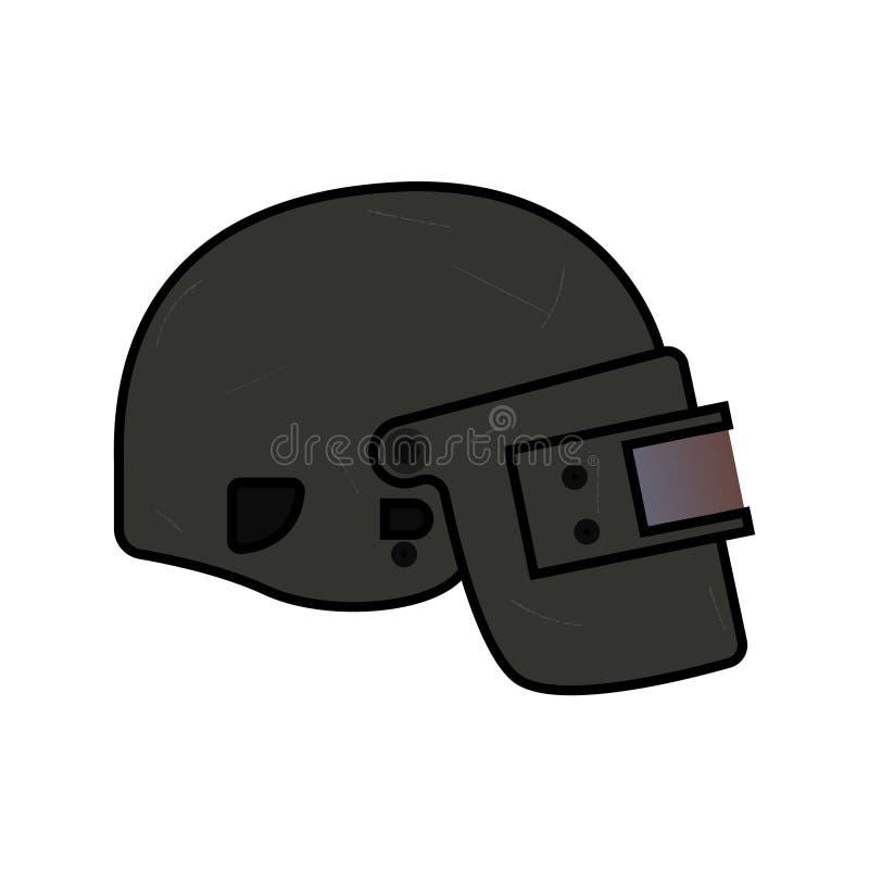 Niveau 3 de casque, de PUBG illustration stock
