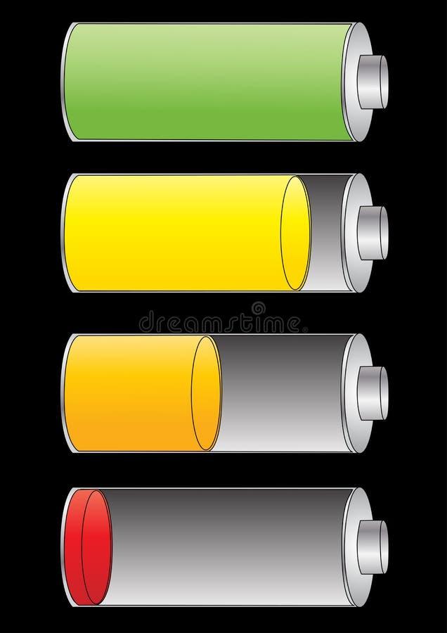 niveau de charge de batterie illustration de vecteur