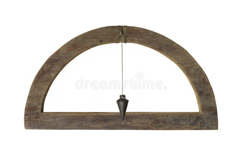 Niveau de charpentier de vintage d'isolement photographie stock libre de droits