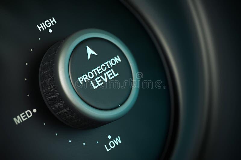 Niveau de protection illustration de vecteur