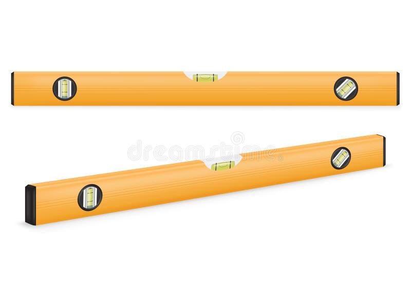 Niveau jaune de construction illustration libre de droits