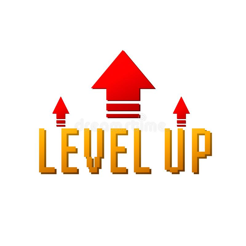 Niveau vers le haut de logo illustration stock
