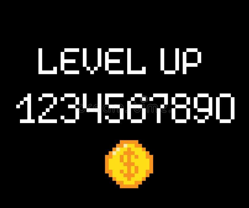 Niveau vers le haut de vecteur de pixel illustration stock