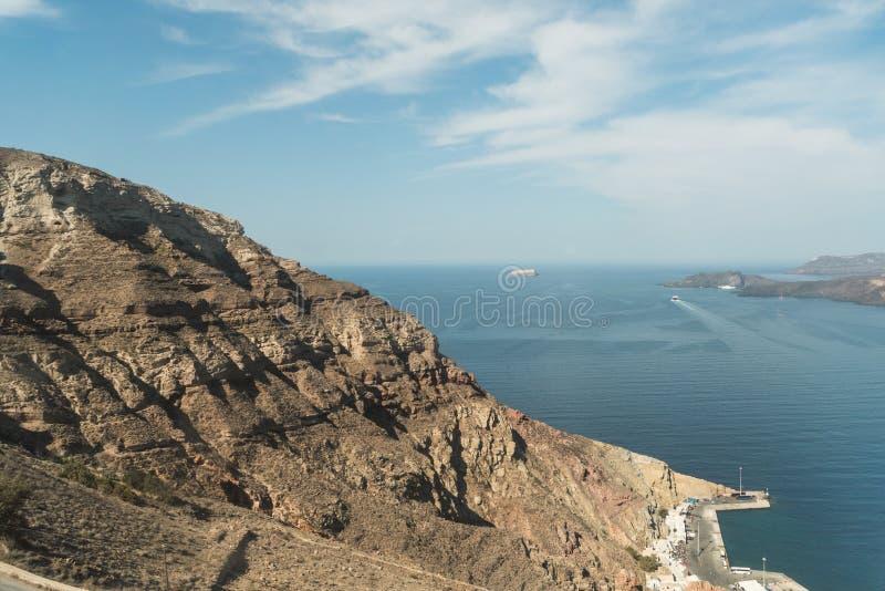 Niveaus van grond van Santorini stock afbeelding