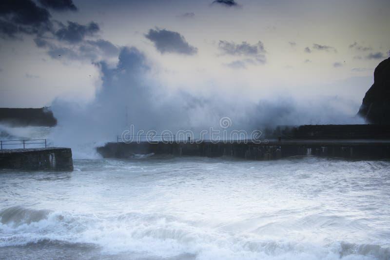 Niveaux en hausse de mer de changement climatique