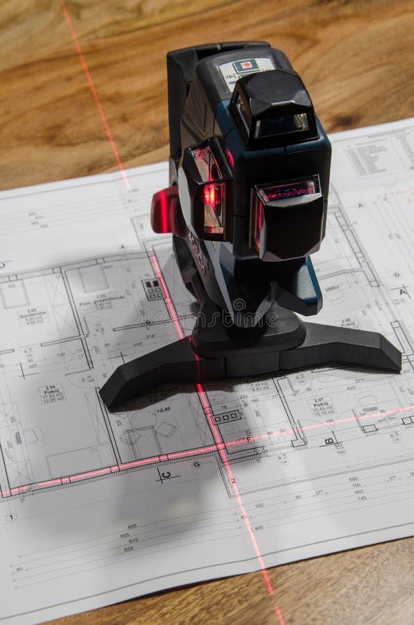 Nivel cruzado del laser fotografía de archivo