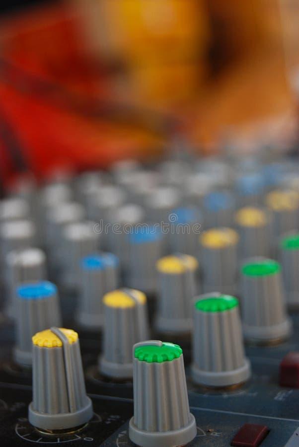Nivel de control de música fotografía de archivo