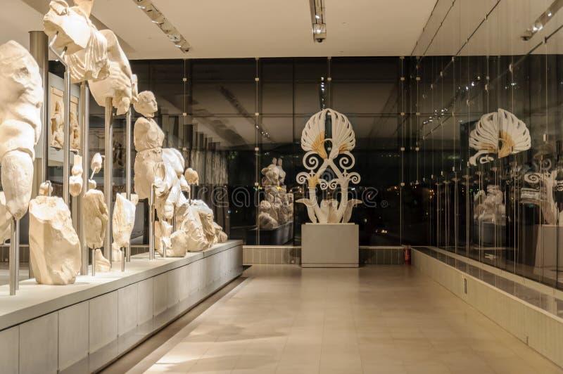 Nivel 3 del museo de la acrópolis foto de archivo libre de regalías