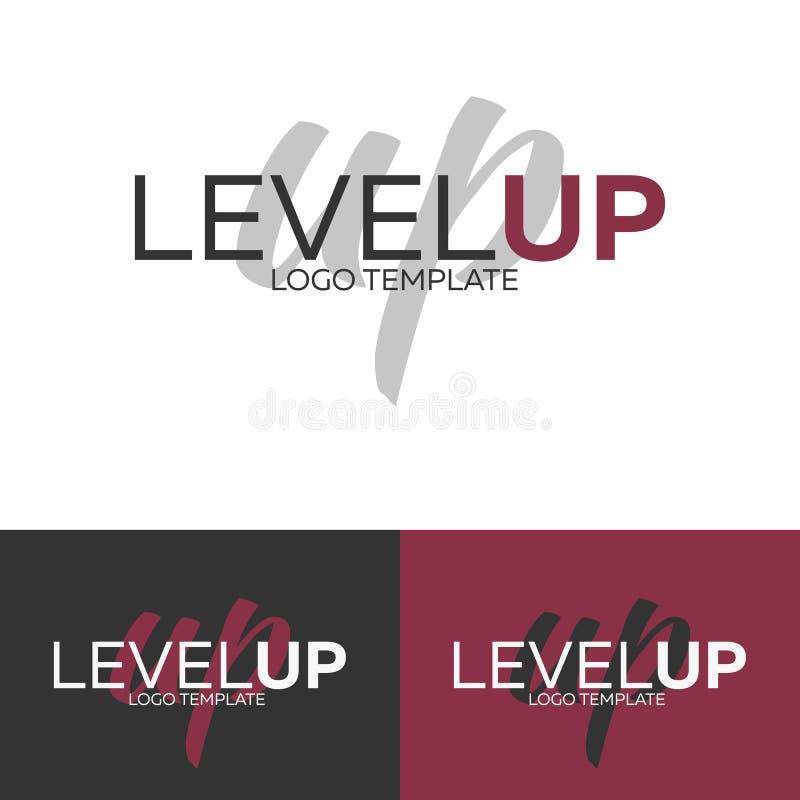 Nivel encima del logotipo Plantilla del logotipo del vector Concepto del logotipo stock de ilustración