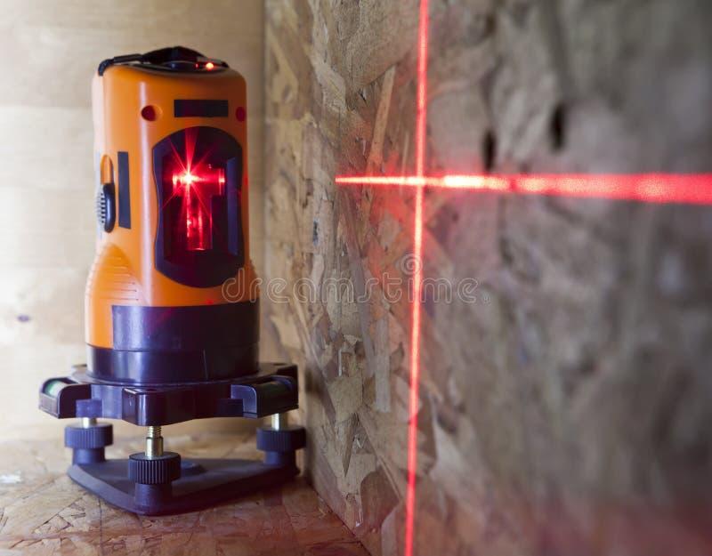 Nivel para las construcciones, pequeña profundidad de la medida del laser de la agudeza imagen de archivo