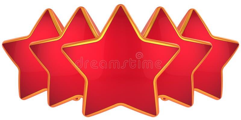 Nivel superior de cinco estrellas ilustración del vector