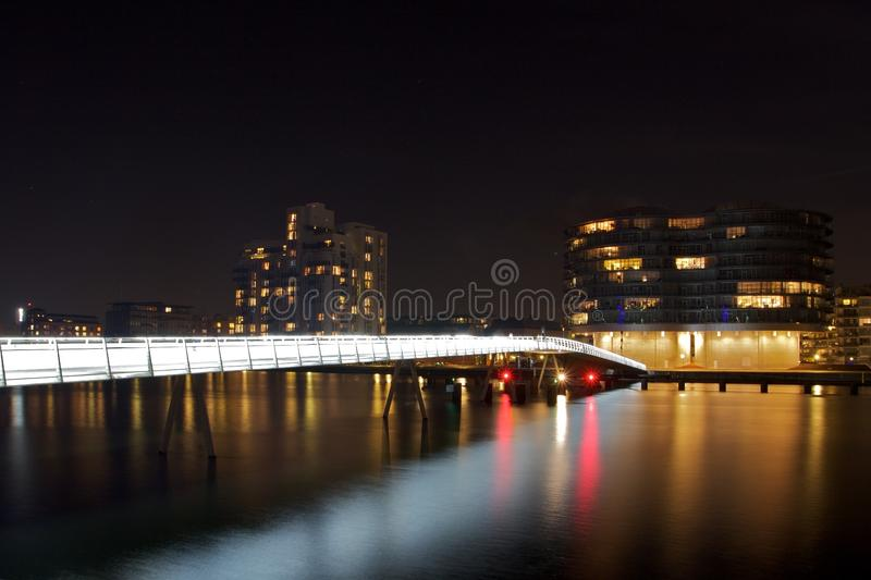 Nivelamento sobre Copenhaga fotos de stock