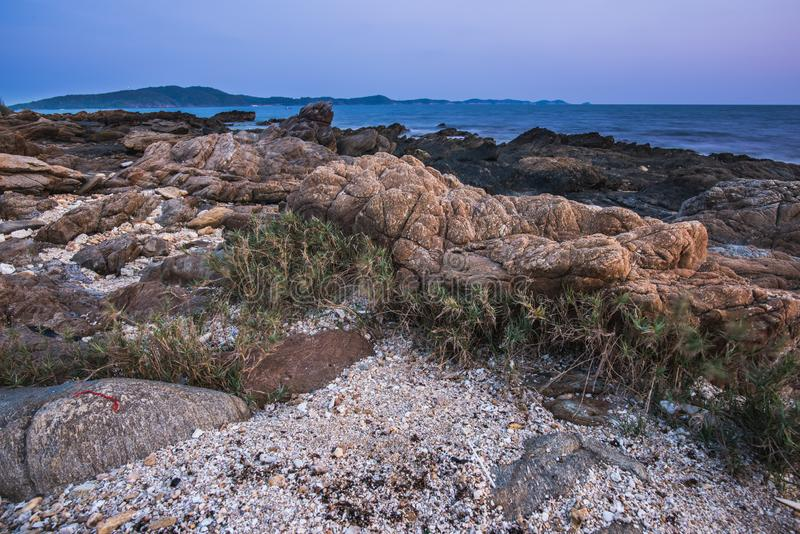 Nivelando a atmosfera da praia foto de stock