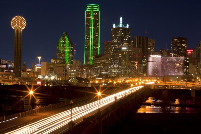 Nivelando comute em Dallas do centro, Texas foto de stock