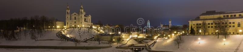 Nivelando sobre o Dvina ocidental, Vitebsk fotografia de stock royalty free