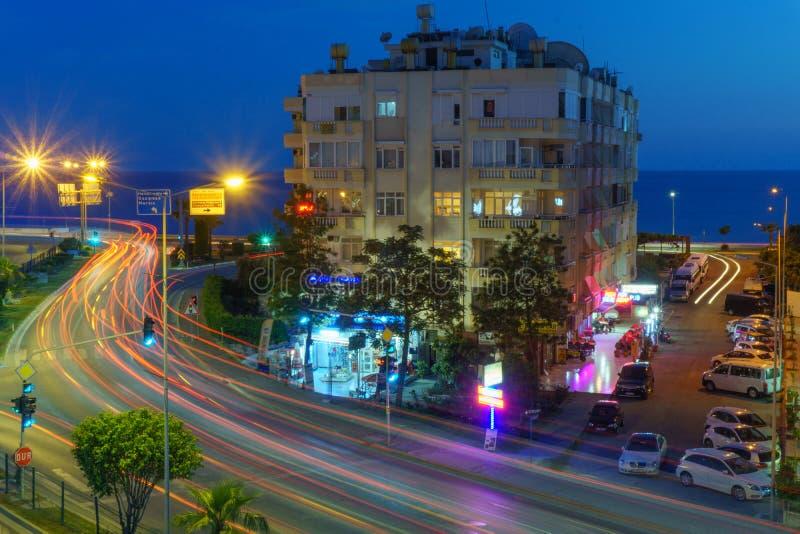 Nivelando a vista da estrada de cidade fotografia de stock