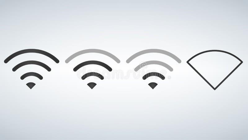 Niveles de los iconos del Wi-Fi Plantilla del indicador de la fuerza de señal, ilustración del vector