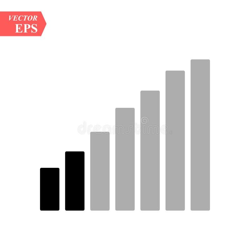 Niveles de los iconos del Wi-Fi Plantilla del indicador de la fuerza de señal libre illustration