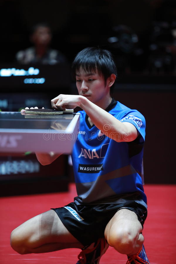 Niwa koki from japan celebrate editorial stock image image of sport pong 97501954 - World table tennis championships ...