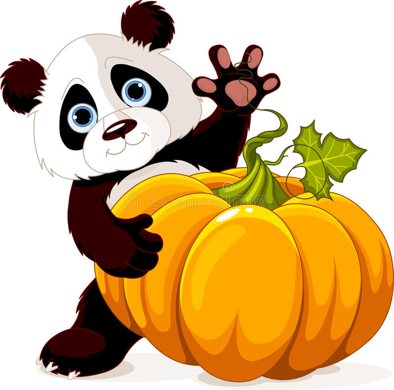Żniwo panda ilustracji