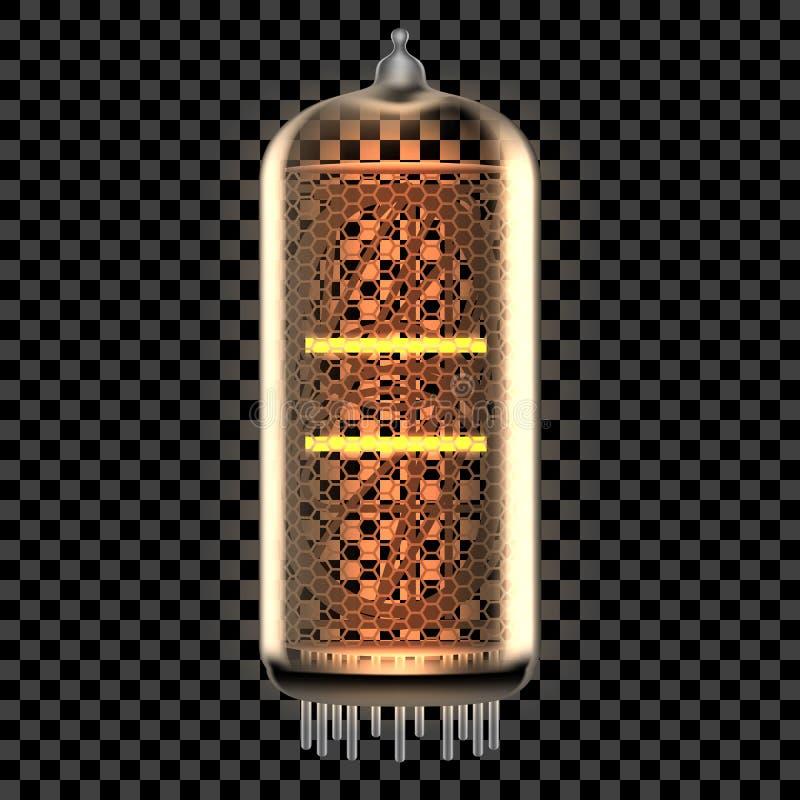 Nixie管有标志的显示器灯 皇族释放例证
