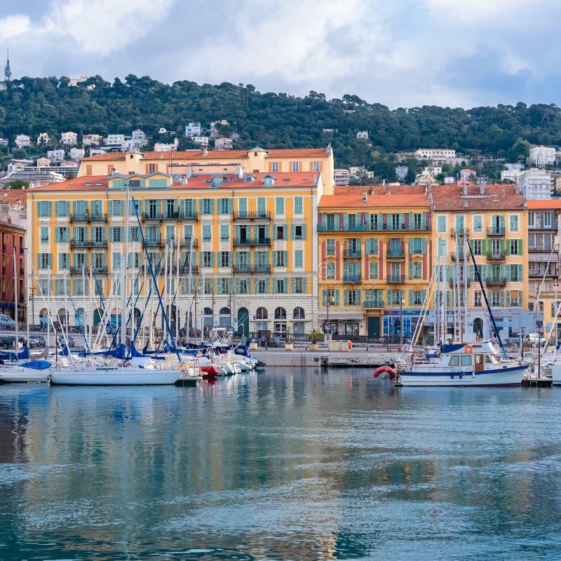 Niza en Francia, el puerto imagenes de archivo