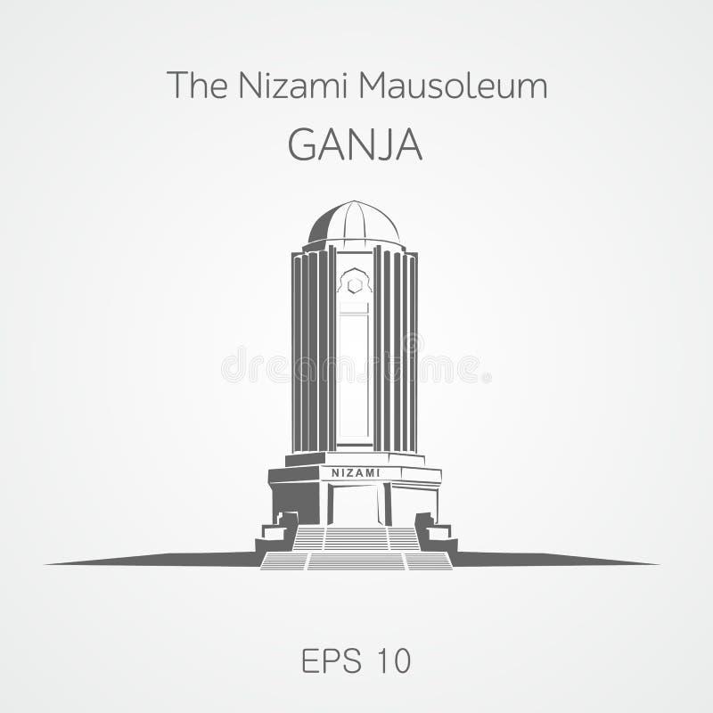 Nizami陵墓Ganja 阿塞拜疆 皇族释放例证