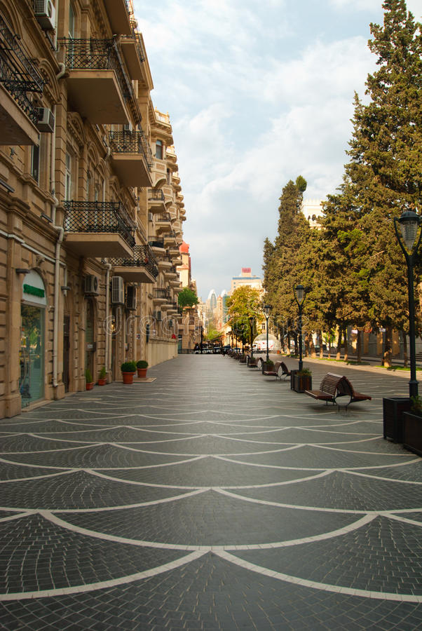 Download Nizami Street stock photo. Image of gothic, paving, caspian - 24546354