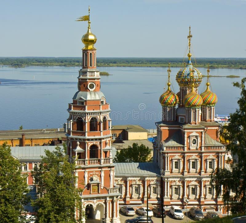 Nizhni诺夫哥罗德, Stroganovskaya教会 免版税库存照片