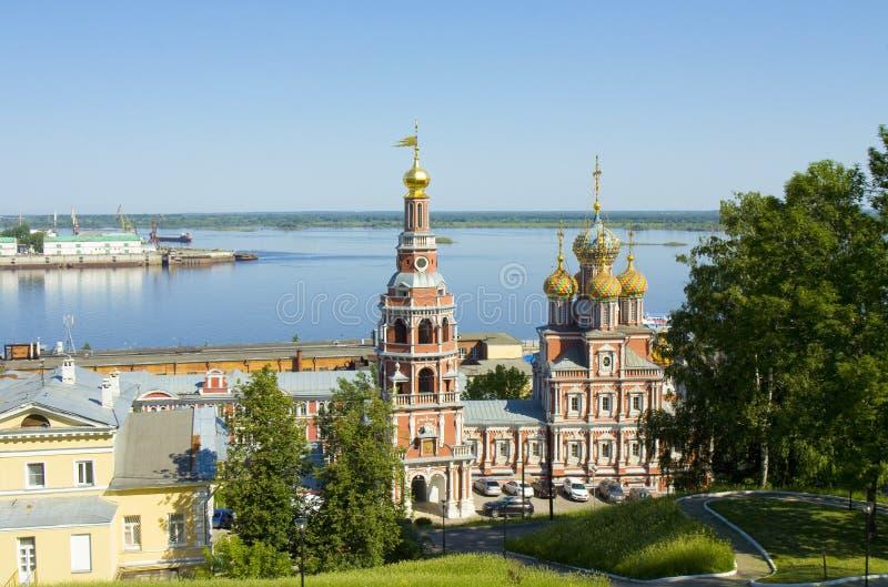 Nizhni Novgorod, chiesa di Stroganovskaya fotografie stock libere da diritti