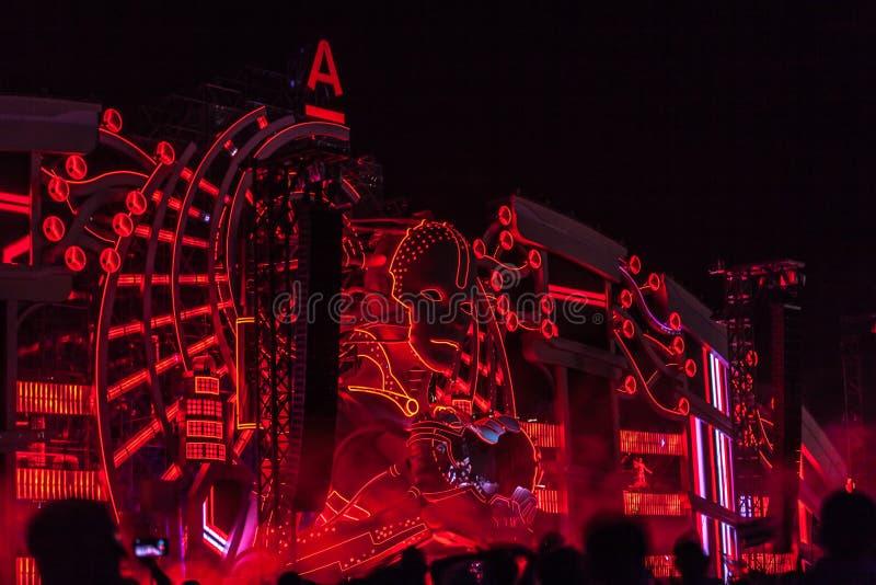 Nizhniy Novgorod, Ρωσία - 24 Ιουλίου 2016: ηλεκτρονικό φεστιβάλ μουσικής - AFP στοκ φωτογραφίες με δικαίωμα ελεύθερης χρήσης