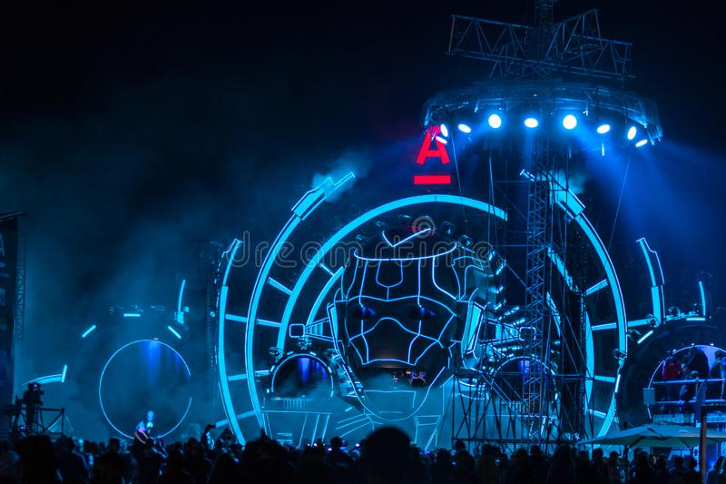 Nizhniy Novgorod, Ρωσία - 19 Ιουλίου 2015: ηλεκτρονικό φεστιβάλ μουσικής - AFP στοκ φωτογραφίες