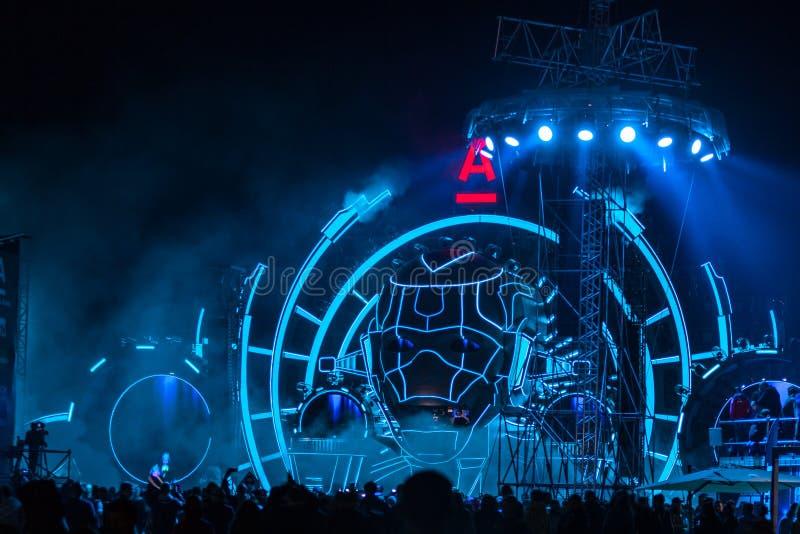 Nizhniy Novgorod, Ρωσία - 19 Ιουλίου 2015: ηλεκτρονικό φεστιβάλ μουσικής - AFP στοκ φωτογραφία με δικαίωμα ελεύθερης χρήσης
