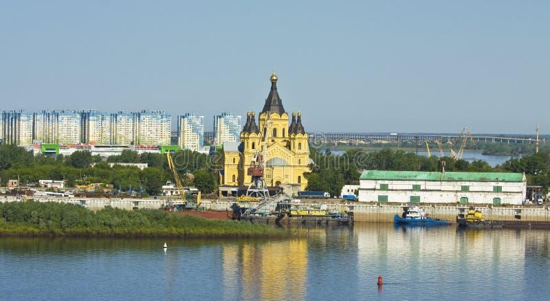 Nizhniy Novgorod, catedral de Alexander Nevskiy fotografía de archivo
