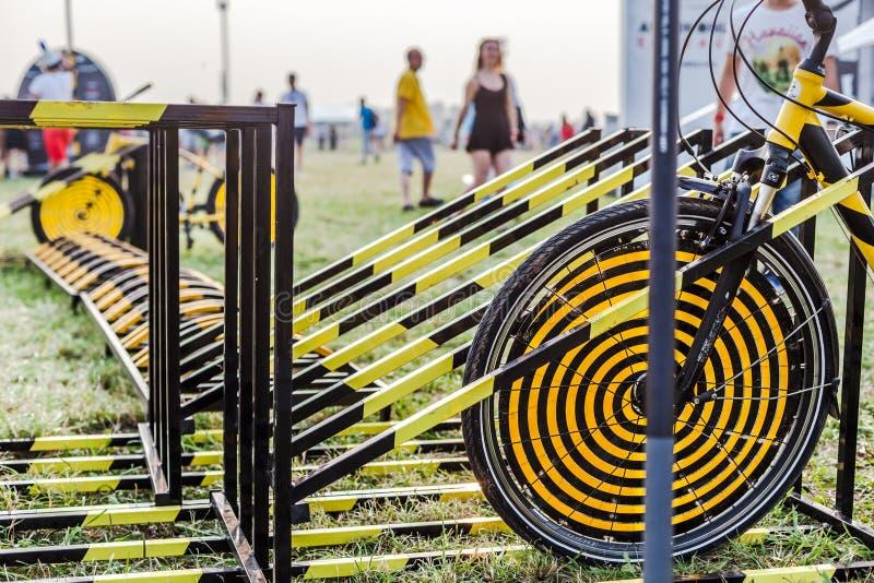 Nizhniy Novgorod, Rusland - Juli 24, 2016: elektronisch muziekfestival - AFP royalty-vrije stock foto