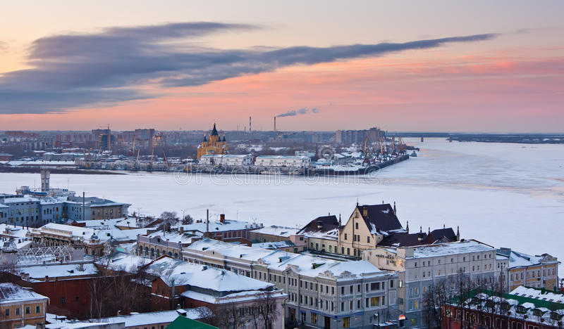 nizhny зима novgorod стоковое фото rf